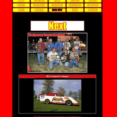 Montgomery County Speedway - Walters Web Design ( 2006 Website Designs )