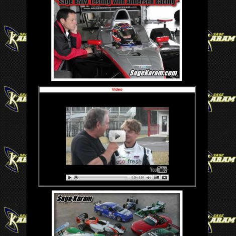 Sage Karam Racing - Walters Web Design ( 2006 Website Designs )