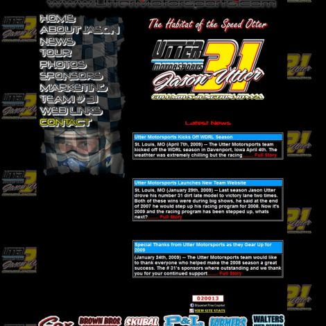 Utter Motorsports - Walters Web Design ( 2006 Website Designs )
