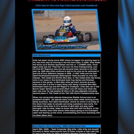 Artie Carpenter - Walters Web Design ( 2008 Website Designs )