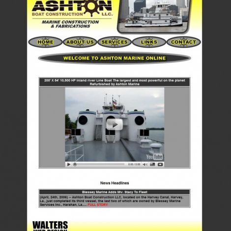 Ashton Boat Construction - Walters Web Design ( 2008 Website Designs )