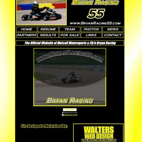 Bryan Racing - Walters Web Design ( 2008 Website Designs )