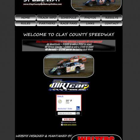 Clay County Speedway - Walters Web Design ( 2008 Website Designs )