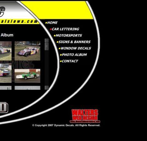 Dynamic Decals - Walters Web Design ( 2008 Website Designs )