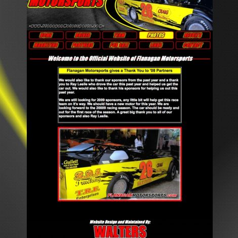 Flanagan Motorsports - Walters Web Design ( 2008 Website Designs )
