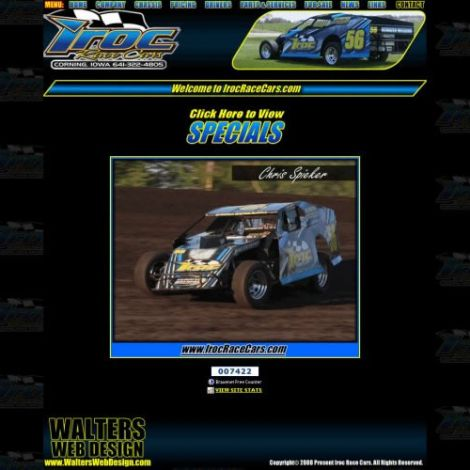 Iroc Race Cars - Walters Web Design ( 2008 Website Designs )