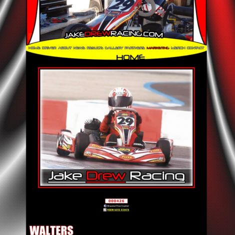Jake Drew Racing - Walters Web Design ( 2008 Website Designs )