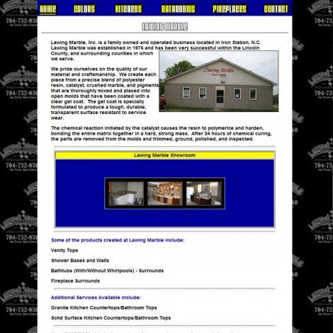 Lawing Marble - Walters Web Design ( 2008 Website Designs )