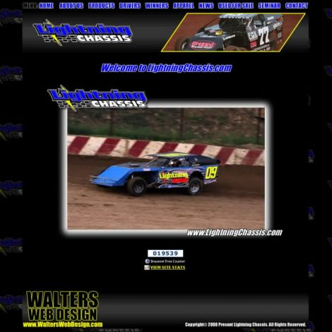 Lightning Chassis - Walters Web Design ( 2008 Website Designs )