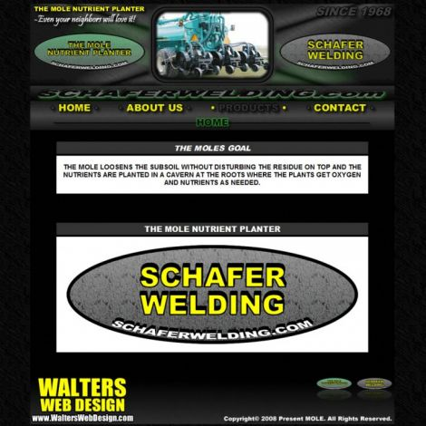 Schafer Welding - Walters Web Design ( 2008 Website Designs )