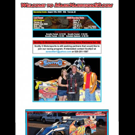 Scotty O Motorsports - Walters Web Design ( 2008 Website Designs )