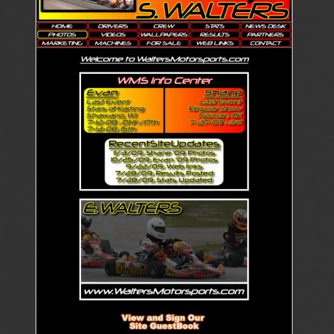 Walters Motorsports - Walters Web Design ( 2008 Website Designs )
