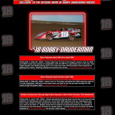 Bobby Dauderman - Walters Web Design ( 2009 Website Designs )