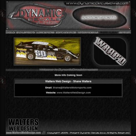 Dynamic Decals - Walters Web Design ( 2009 Website Designs )