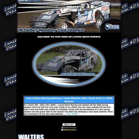 Lance Dehm Racing - Walters Web Design ( 2009 Website Designs )