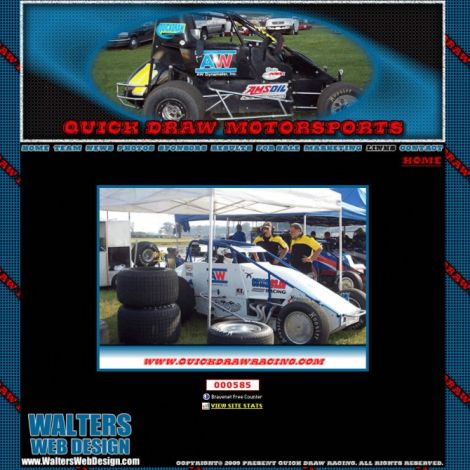 Quick Draw Motorsports - Walters Web Design ( 2009 Website Designs )