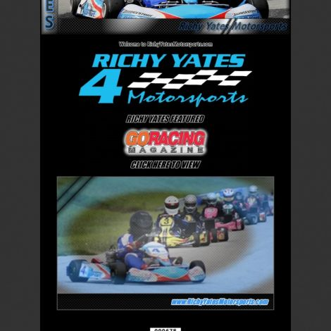 Richy Yates Racing - Walters Web Design ( 2009 Website Designs )