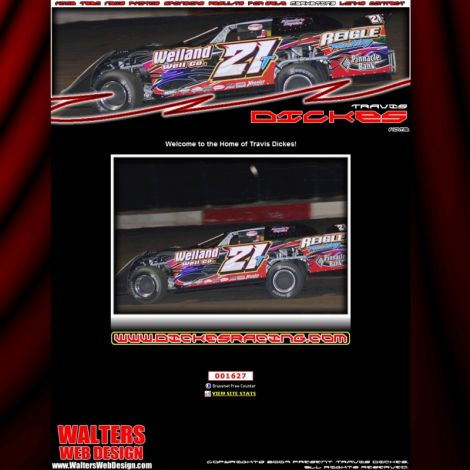 Travis Dickes Racing - Walters Web Design ( 2009 Website Designs )