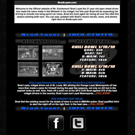 Brad Loyet - Walters Web Design ( 2010 Website Designs )