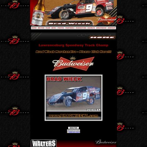 Brad Wieck Racing - Walters Web Design ( 2010 Website Designs )