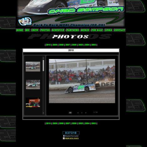 Chad Simpson Racing - Walters Web Design ( 2010 Website Designs )
