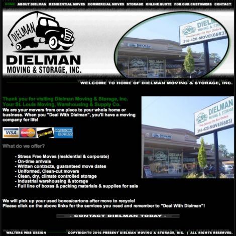 Dielman Moving - Walters Web Design ( 2010 Website Designs )