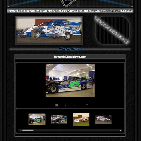Dynamic Decals Iowa - Walters Web Design ( 2010 Website Designs )