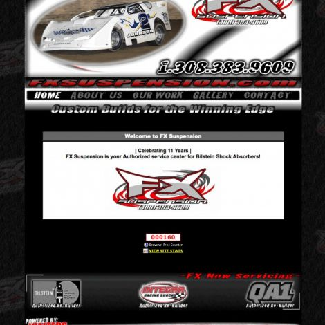 FX Suspension - Walters Web Design ( 2010 Website Designs )