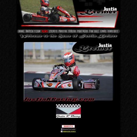 Justin K Racing - Walters Web Design ( 2010 Website Designs )