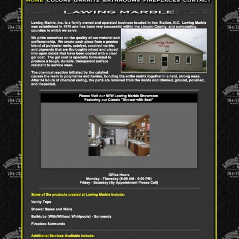 Lawing Marble - Walters Web Design ( 2010 Website Designs )