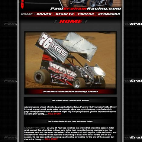 Paul Graham Motorsports - Walters Web Design ( 2010 Website Designs )