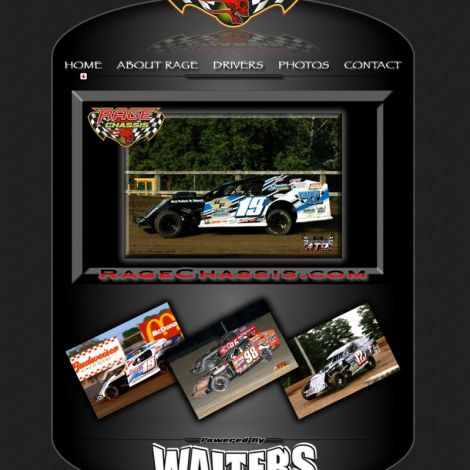 Rage Race Cars - Walters Web Design ( 2010 Website Designs )