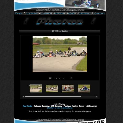 SKUSA Central States Karting - Walters Web Design ( 2010 Website Designs )
