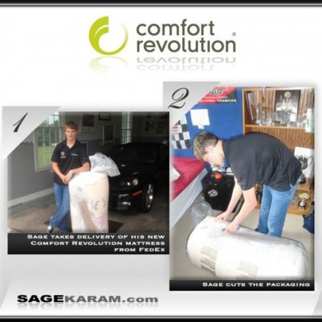 2010 Sage Karam Sponsored by Comfort Revolution ( Graphic Design Portfolio )