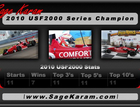 2010 USF2000 Champion Sage Karam ( Graphic Design Portfolio )