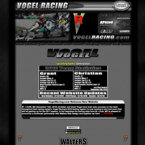 Vogel Racing - Walters Web Design ( 2010 Website Designs )
