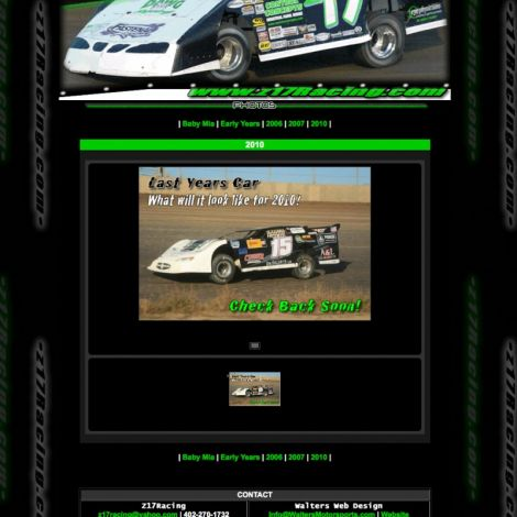 Z17 Racing - Walters Web Design ( 2010 Website Designs )
