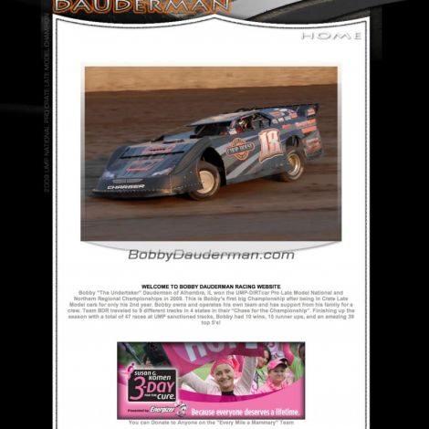 Bobby Dauderman Racing - Walters Web Design ( 2011 Website Designs )