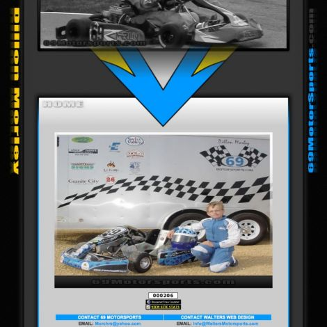 69 Motorsports - Walters Web Design ( 2011 Website Designs )