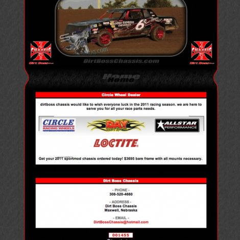 Dirt Boss Chassis - Walters Web Design ( 2011 Website Designs )