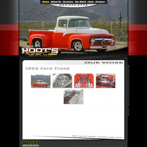 Hoots Rod and Customs - Walters Web Design ( 2011 Website Designs )