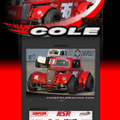 Jake Cole Racing - Walters Web Design ( 2011 Website Designs )