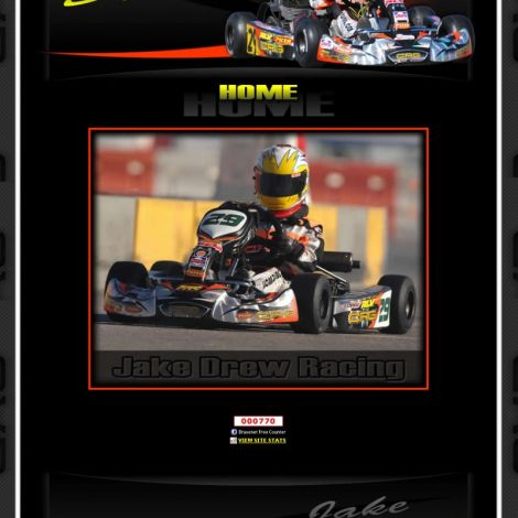 Jake Drew Racing - Walters Web Design ( 2011 Website Designs )