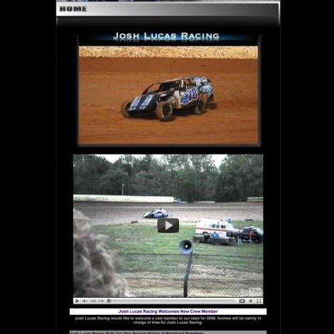 Josh Lucas Racing - Walters Web Design ( 2011 Website Designs )