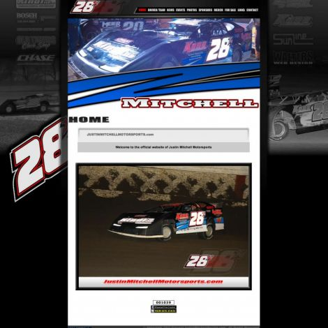 Justin Mitchell Racing - Walters Web Design ( 2011 Website Designs )