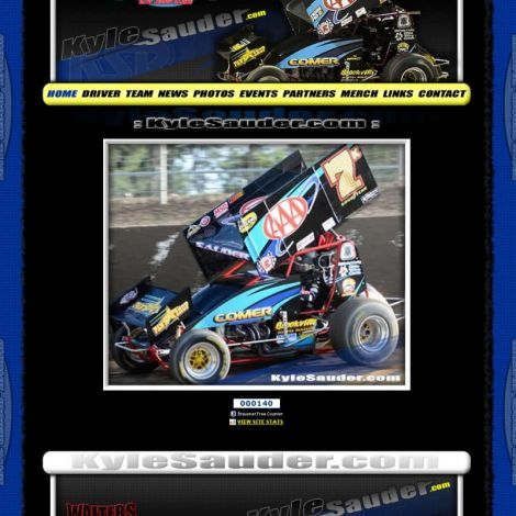 Kyle Sauder Racing - Walters Web Design ( 2011 Website Designs )