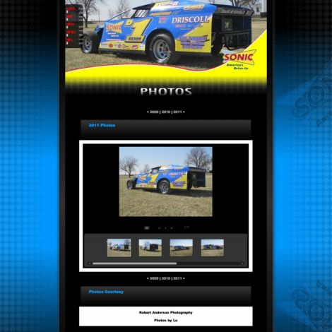 Lance Dehm Racing - Walters Web Design ( 2011 Website Designs )