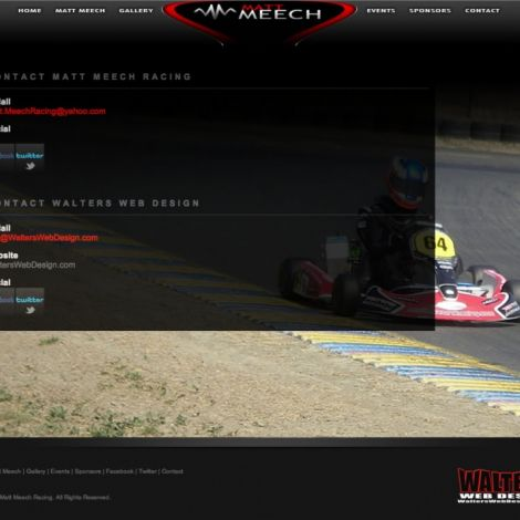 Matt Meech Racing - Walters Web Design ( 2011 Website Designs )