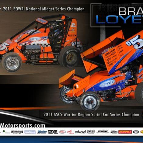 2011 POWRi and ASCS Champion Brad Loyet ( Graphic Design Portfolio )