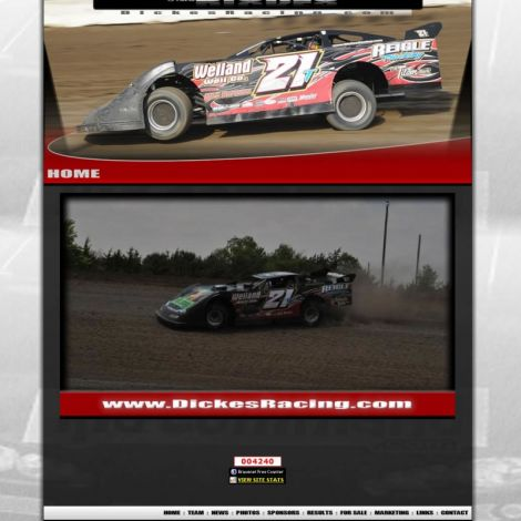 Travis Dickes Racing - Walters Web Design ( 2011 Website Designs )